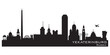 Yekaterinburg Russia city skyline Detailed silhouette