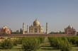 Back View of Taj Mahal in India