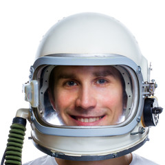 Astronaut isolated on a white background.