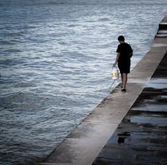 la pesca in riva
