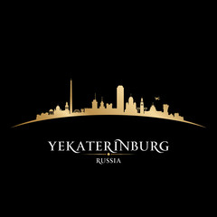 Yekaterinburg Russia city skyline silhouette black background
