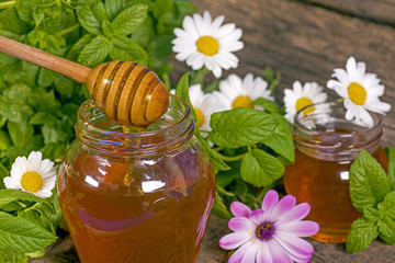 Honey in a jar