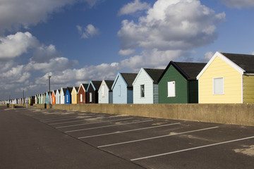 Colourful Beach Huts, Southwold, Suffolk, England