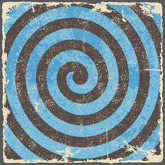 Retro vintage grunge spiral background. Vector