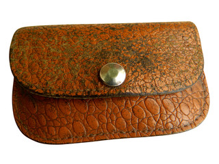 old purse with clipping path