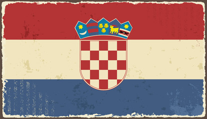 Croatian grunge flag. Vector illustration