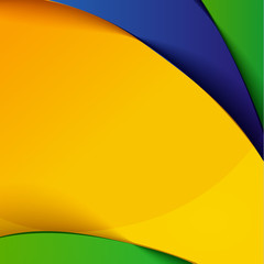 abstract vector background with brazil colors, design template