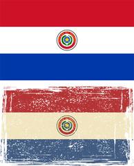 Paraguayan grunge flag. Vector illustration