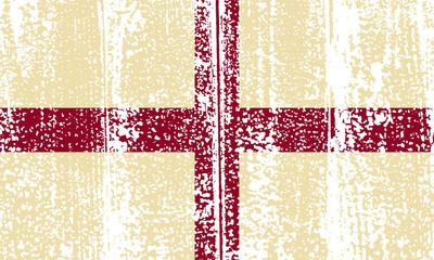 English grunge flag. Vector illustration.