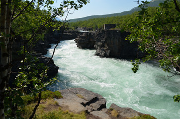 Canyon of the Abisko river