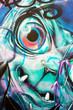 Ugly abstract graffiti face