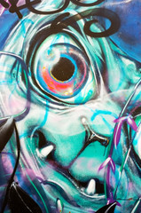 Ugly abstract graffiti face