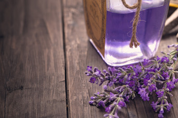 Lavender flowers and perfume