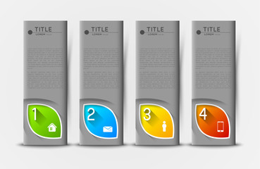 option infographic banners with icons, design template