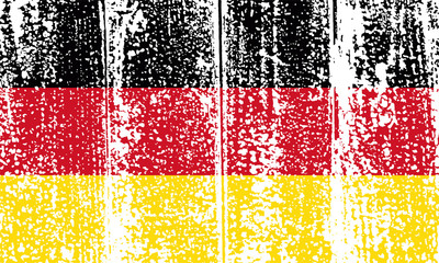 Germany grunge flag. Vector illustration.