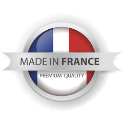 made in France seals, French flag, emblem (vector Art)