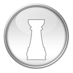 Bottone scacchi torre bianca