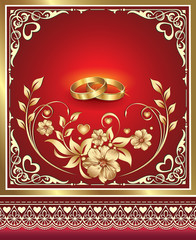 romantic card for a wedding