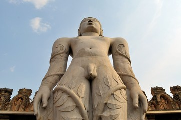 Jain god Gomeshvara in Shravanabelagola, India