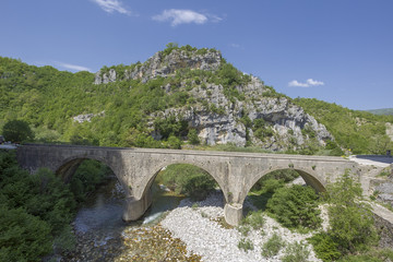 old stone bridge in Zagoria, Epirus, Western Greece