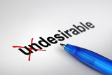 Changing the meaning of word. Undesirable into Desirable. poster