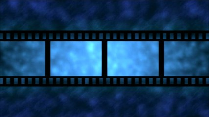 Movie Film Particle Background Animation - Loop Blue