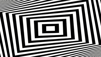 Black and white twisting rectangles