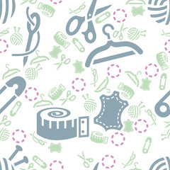 sewing seamless pattern