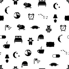 sleep seamless pattern