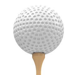golf ball and golf tee