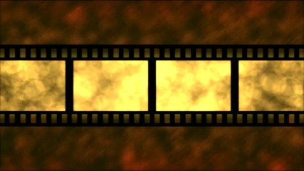 Movie Film Particle Background Animation - Loop Golden