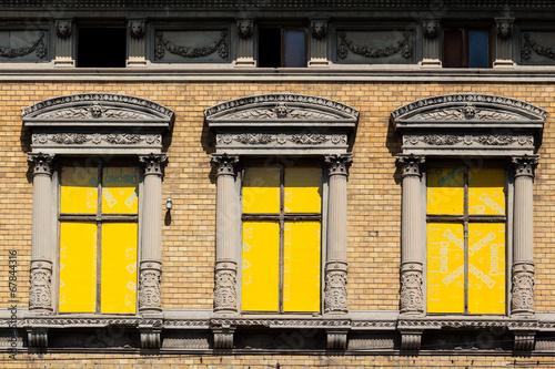 canvas print picture Abriss alter Industriegebäude in Quedlinburg