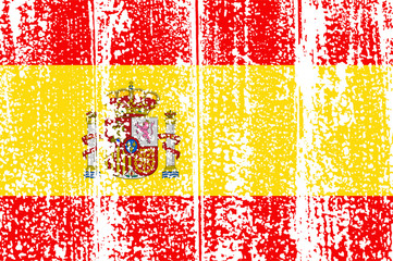 Spanish grunge flag. Vector illustration.