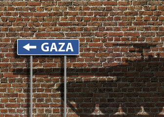 gaza mur briques rue conflit kazy