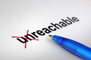 Changing the meaning of word. Unreachable into Reachable.