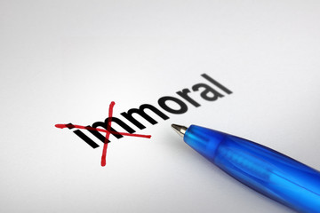 Changing the meaning of word. Immoral into Moral.