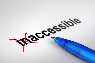 Changing the meaning of word. Inaccessible into Accessible.