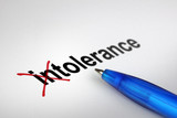 Changing the meaning of word. Intolerance into Tolerance. poster