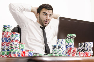 Poker player online shocked