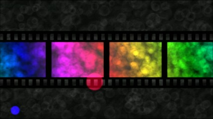 Movie Film Particle Background Animation - Loop Rainbow