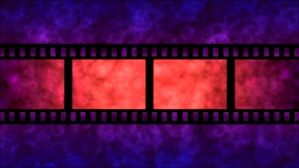 Movie Film Particle Background Animation - Loop Purple