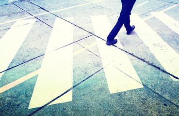 Grunge pedestrian street crossing