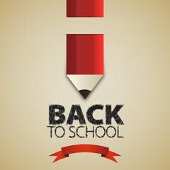 Welcome back to school. Vector illustration. Card design