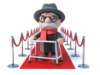 3d Grandpa on the red carpet