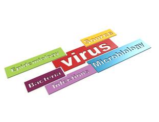 Virus 3d word concept