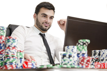 Online poker win
