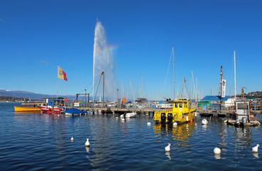 port et jet d'eau de Genève