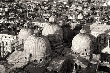 Suggestive Aerial View of Venice with Saint Mark Cathedral