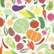 Vector collection of various vegetables