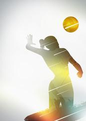 Volleyball flat design background